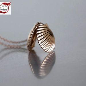 Seashell Locket Necklace/bracelet/anklet, Handmade